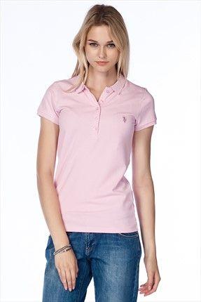 Bayan Polo Yaka T Shirt G082gl011 P26 Tp01gl4 Moda Stilleri Polo Trendler