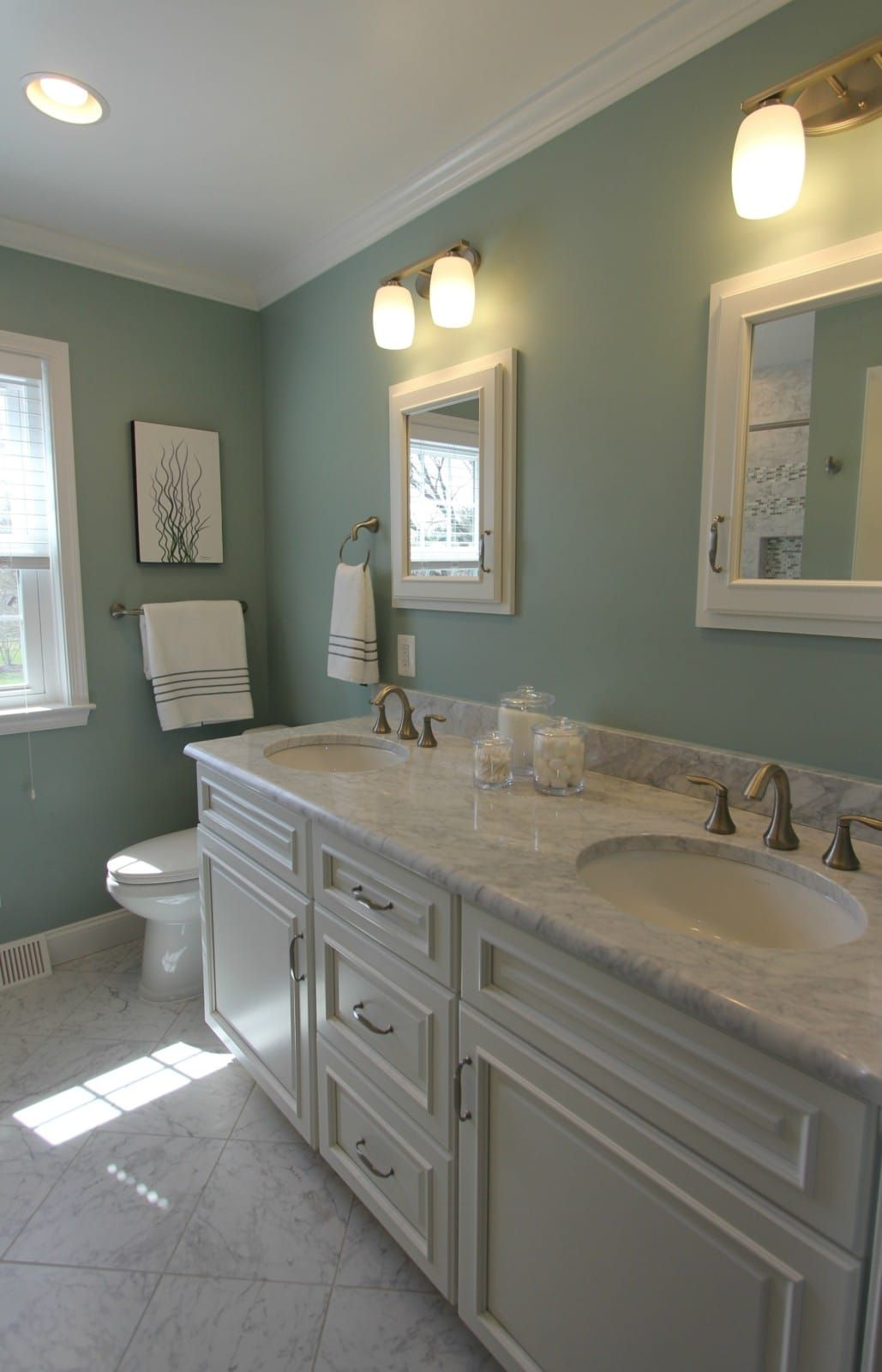 Sage And Gray Bathroom Bathroom Sage Green Marble Taylor Made Custom Contractors Green Bathroom Grey Bathrooms Bathroom Remodeling Contractors