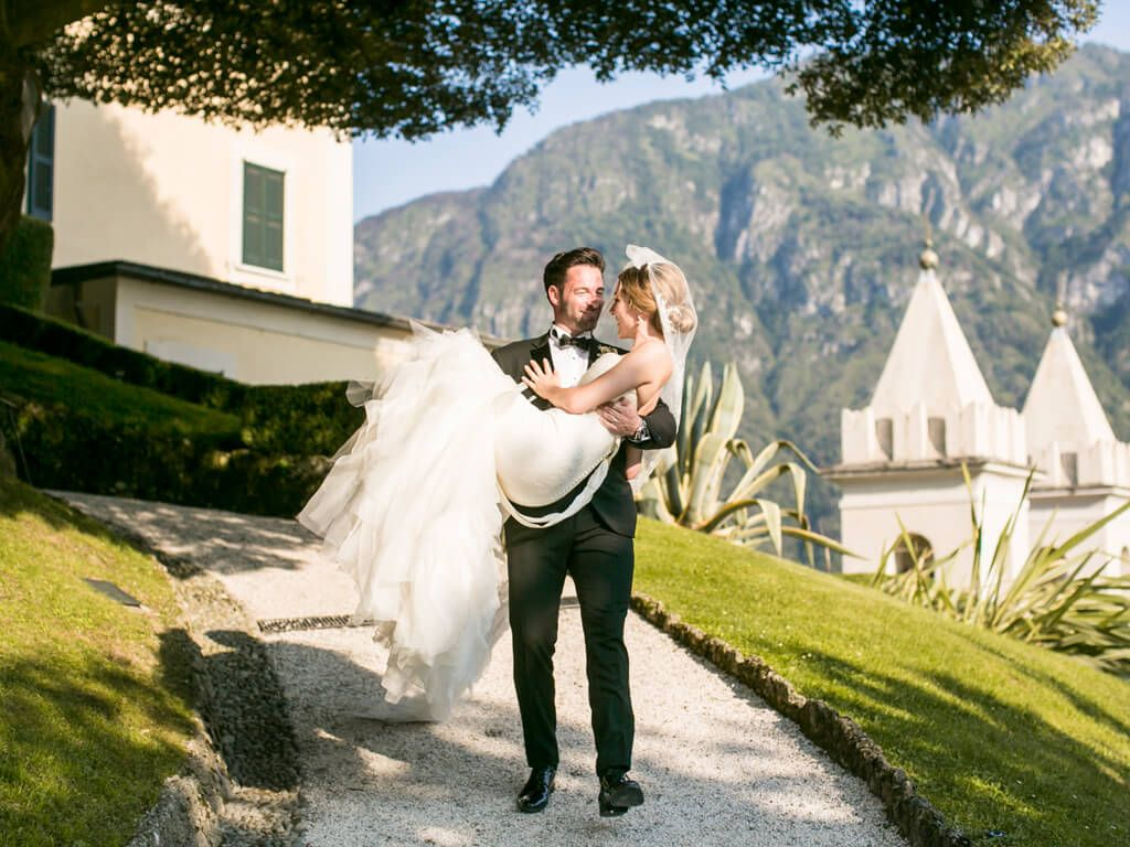 Villa del Balbianello - Lake Como wedding photoshoot