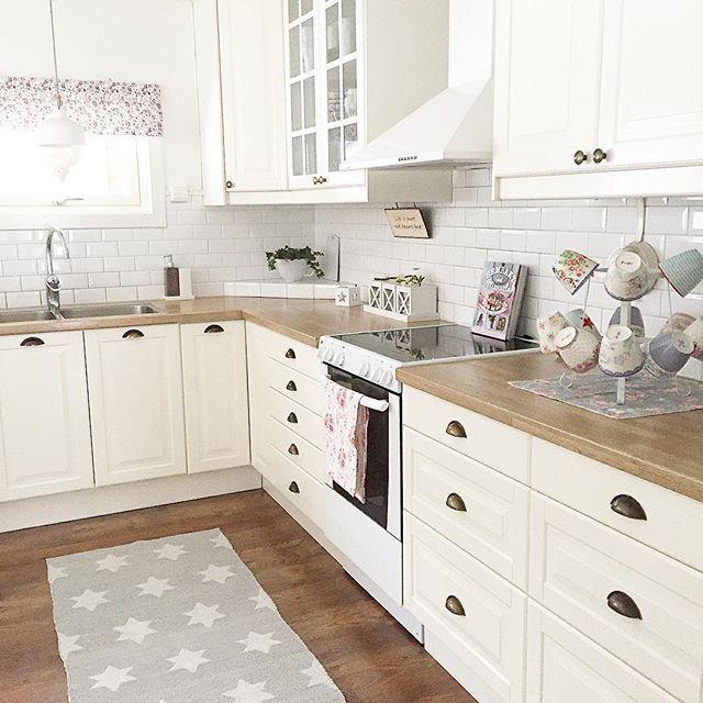 Shabby and Charme White and grey per una bella casa svedese - ikea küche landhausstil