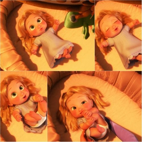 Haww She Is So Adorable Baby Rapunzel Tangled