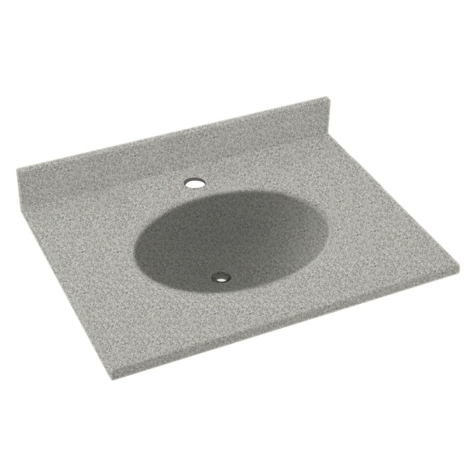 Swanstone 19w X 17d In Ellipse Solid Surface Vanity Top Gray