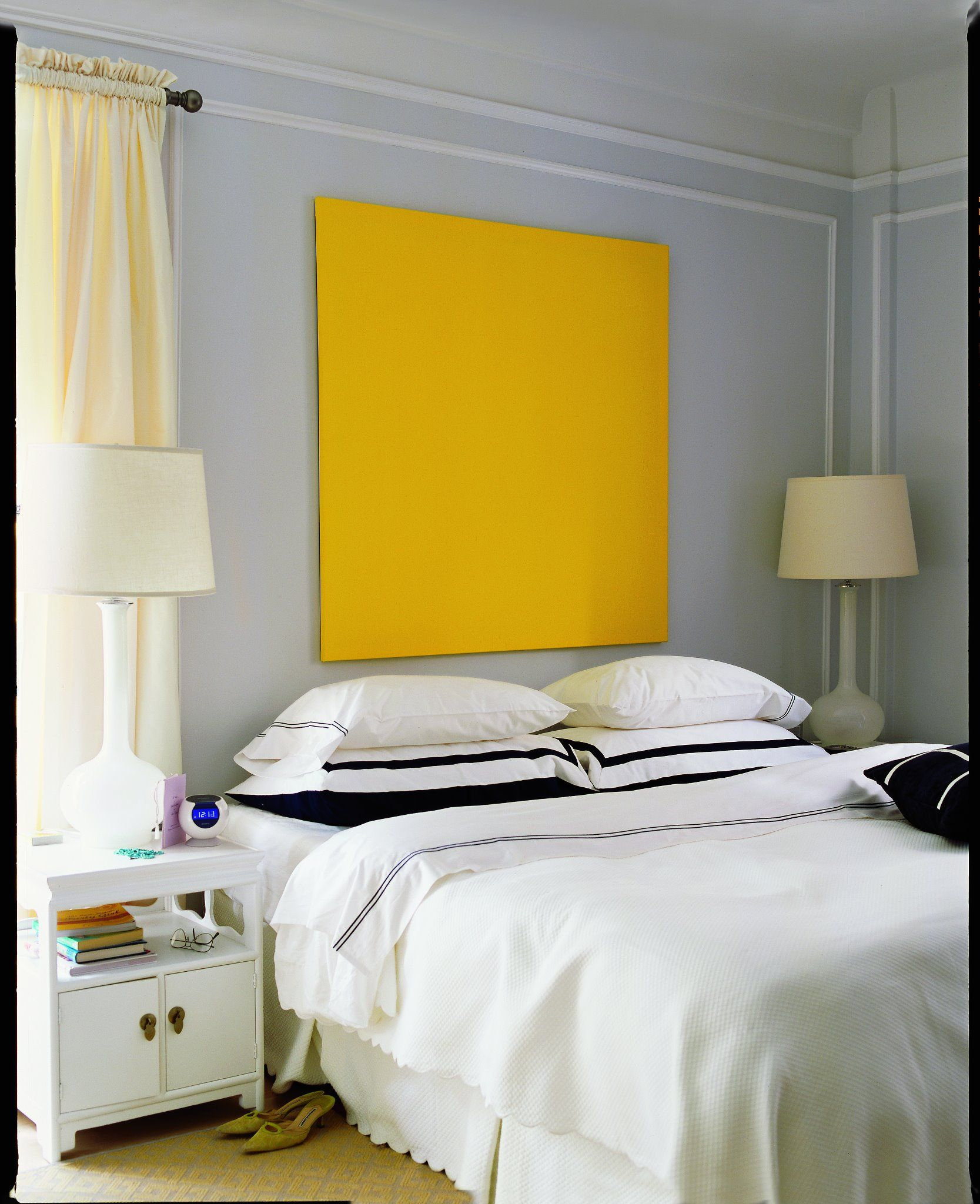 Canvas Headboard via Domino Mag | Bedrooms | Pinterest | Headboard ...