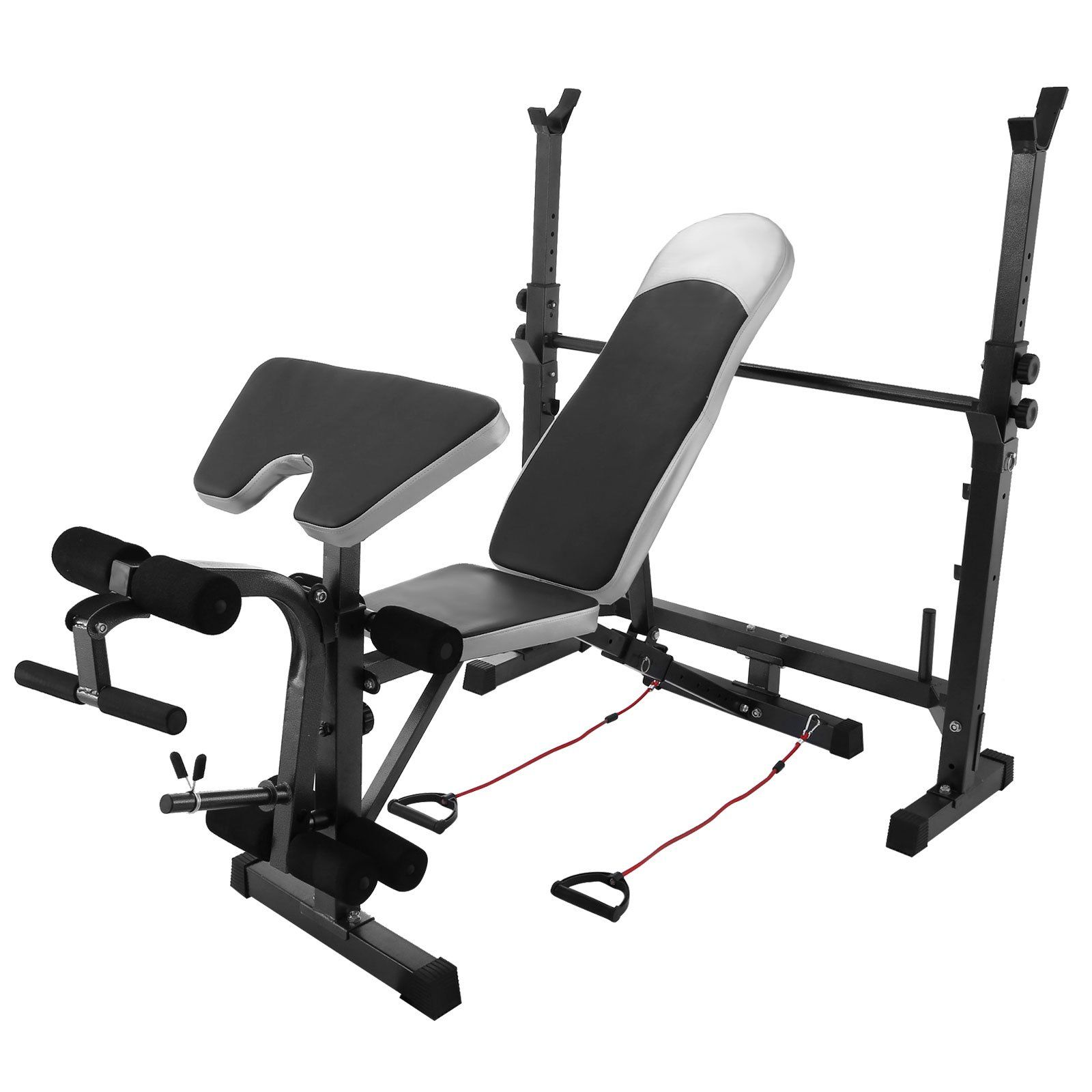 Bestequip Multi Station Weight Bench Adjustable Workout Bench With Leg Extension Incline Flat D Weight Benches Adjustable Weight Bench Adjustable Workout Bench