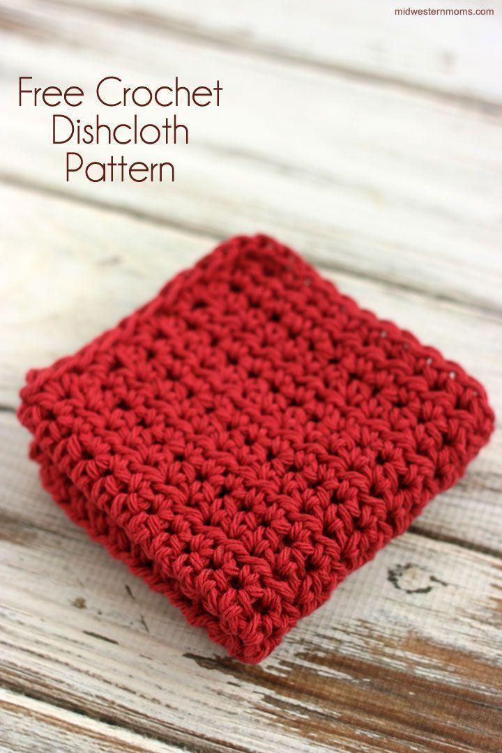 Free Half Double Crochet Dishcloth Pattern | Stricken und häkeln ...