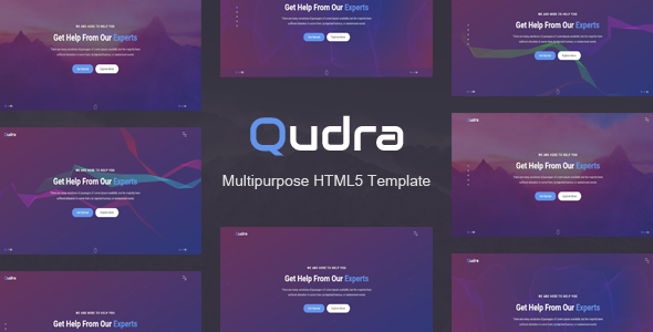 Qudra Multipurpose HTML5 Template (With images) Html5