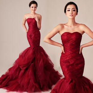 Vera Style New Red Beauty Was Thin Fish Tail Trailing Korean Wedding Dresses Advanced Customization Taobao