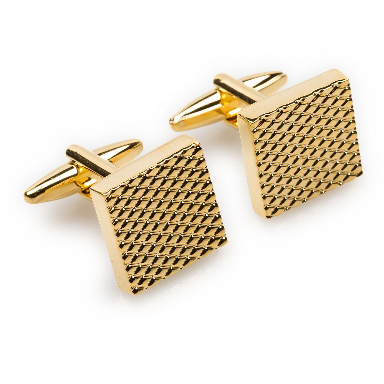 Rectangle Wooden Brass Cufflinks Men Formal Casual Cuff Links fit Shirt Suit