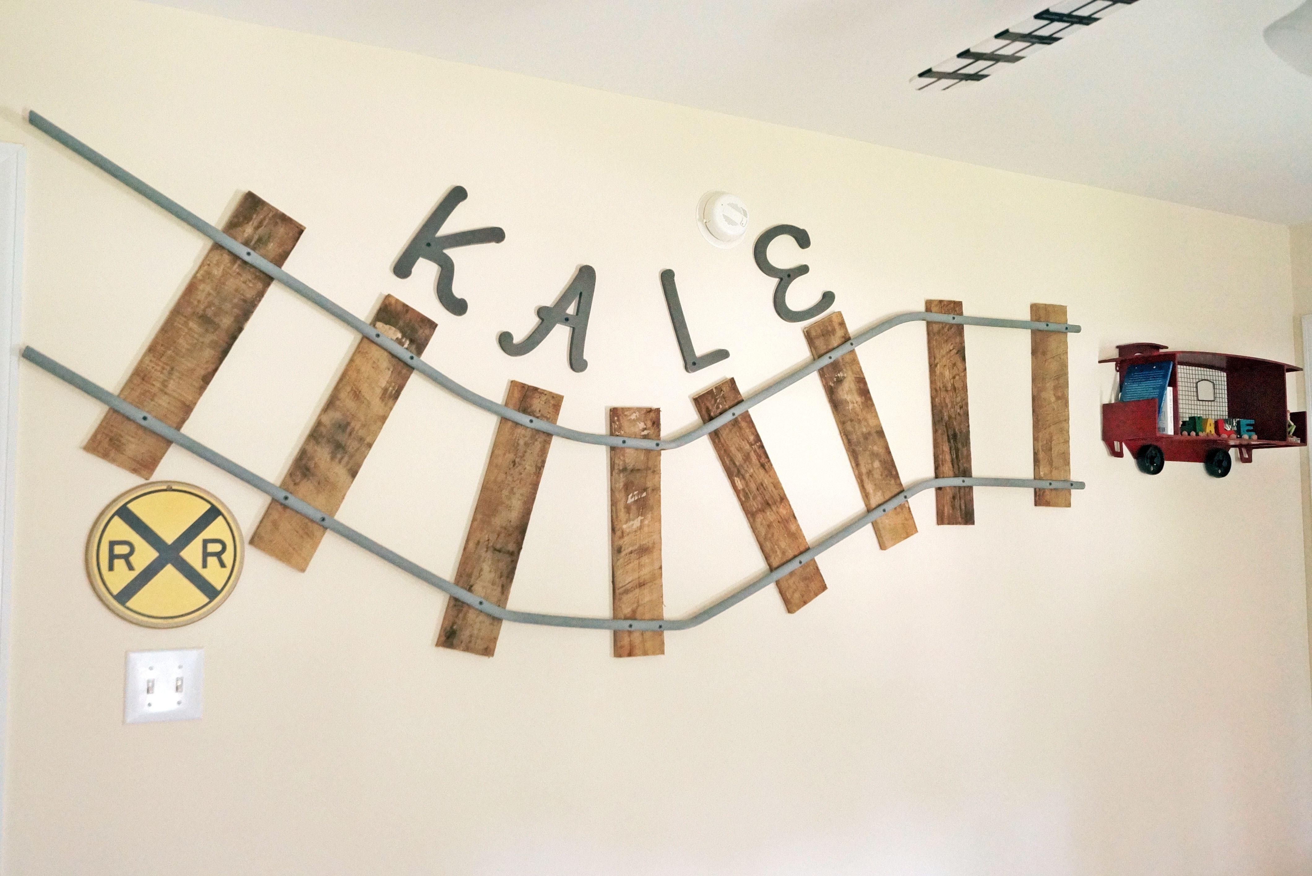 Train Track for wall | Train bedroom, Wall, Train