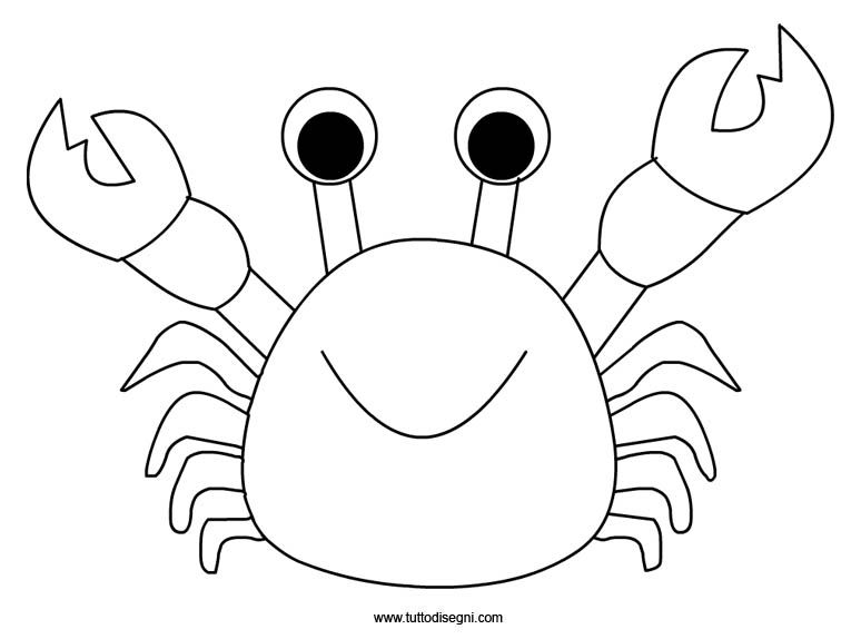 Crab coloring page | 2 yr old ocean | Pinterest | Sea animal crafts ...