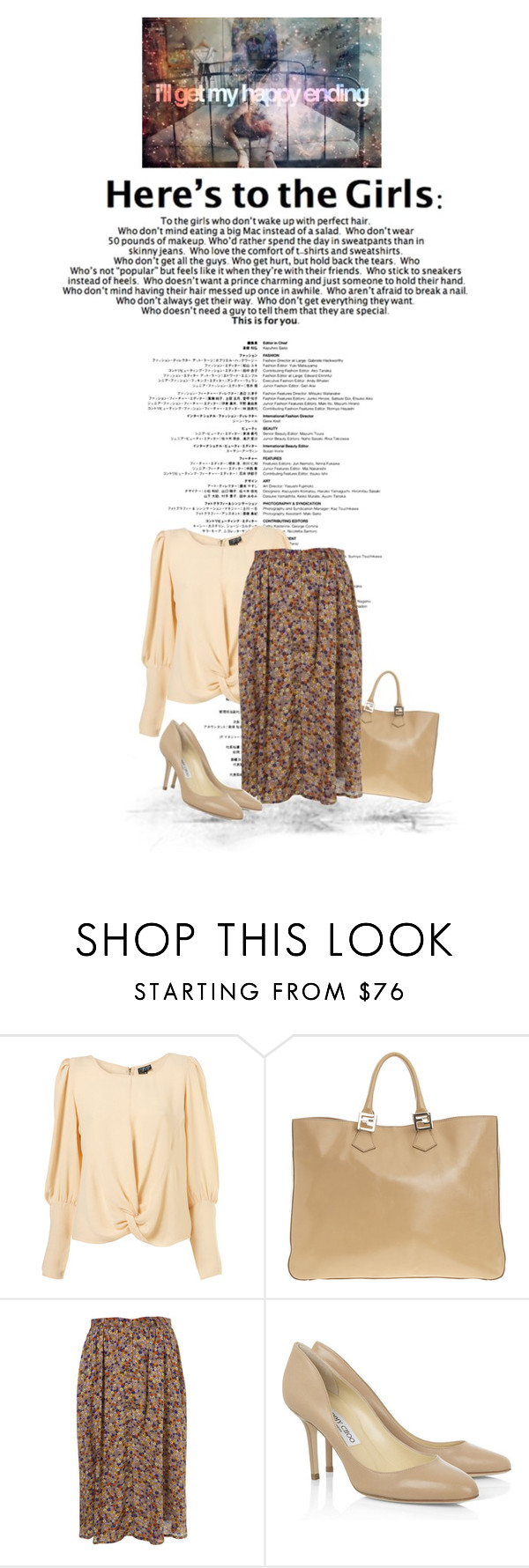 """""""Happy ending"""" by yagmur ❤ liked on Polyvore featuring Fendi and Jimmy Choo"""