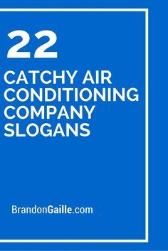 101 Catchy Air Conditioning Company Slogans Air Conditioning