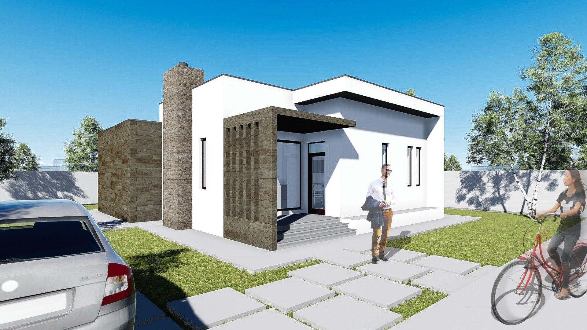 Proiect casa minimus parter 3 camere 88mp mai multe for Case parter 3 camere