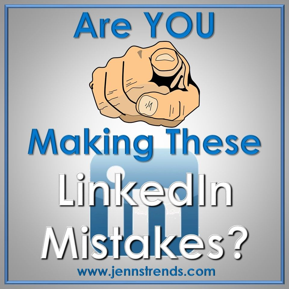 Are you making these linkedin etiquette mistakes social