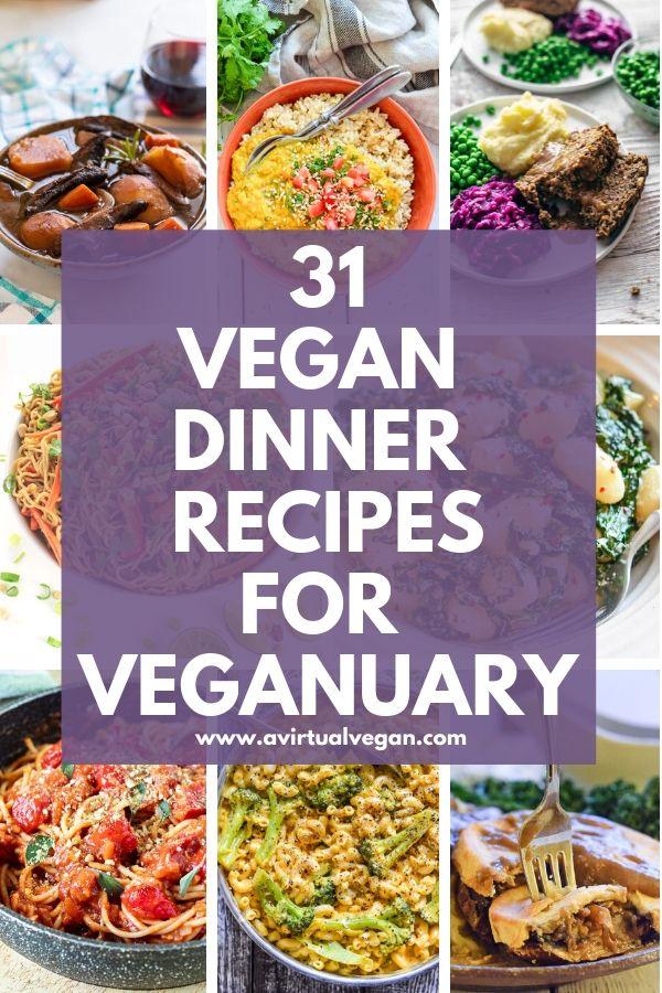 31 Vegan Dinner Recipes for Veganuary #dinnerrecipes