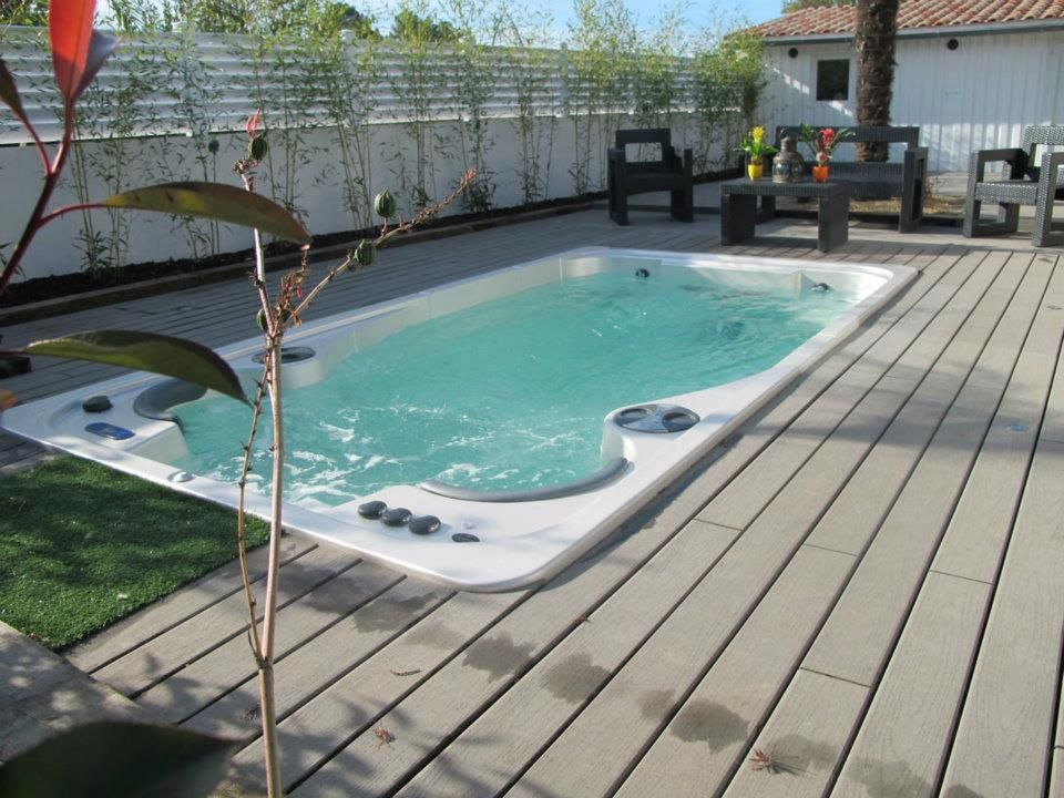Hydropool Self Cleaning Swim Spa Installed In A Deck