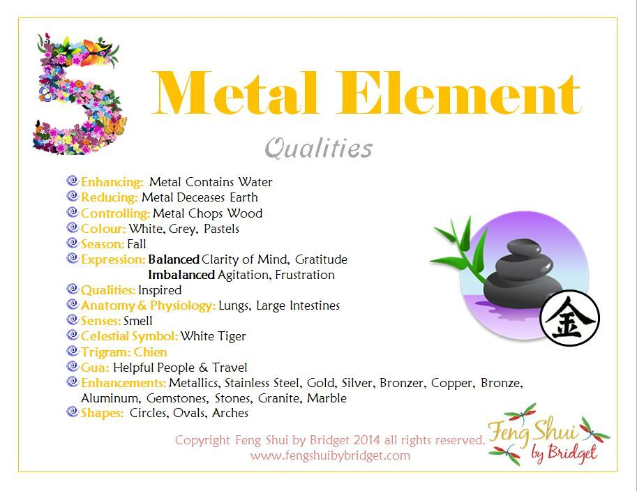 The Feng Shui Metal Element Qualities and how to gain clarity of thought  and