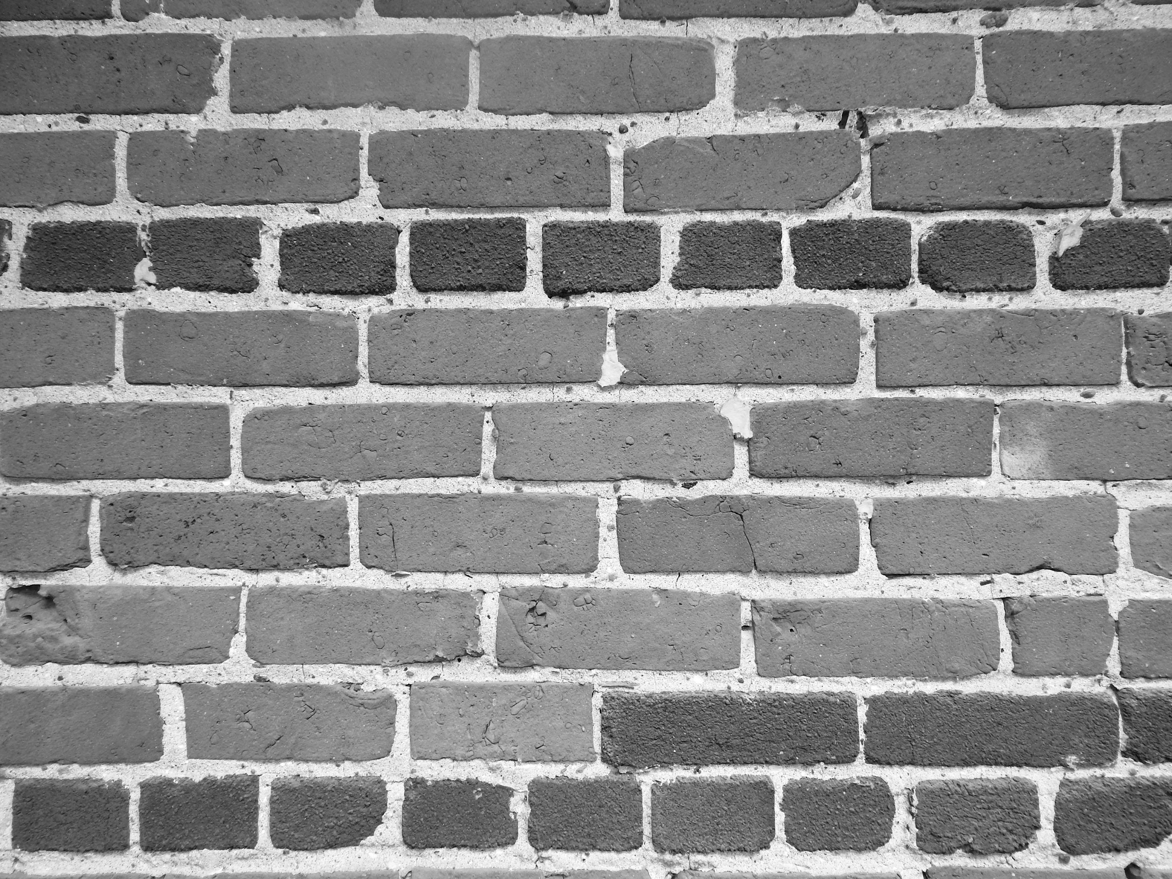 Black And White Brick Wall 4k Wallpaper