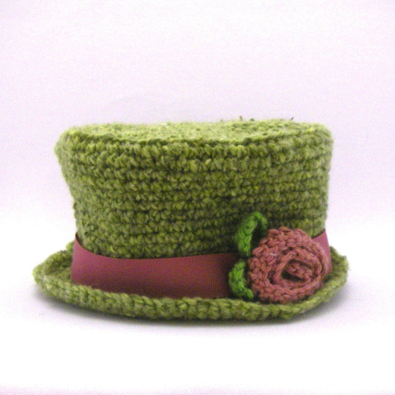Instant Download Crochet Pattern Top Hat Sizes Newborn to Adult