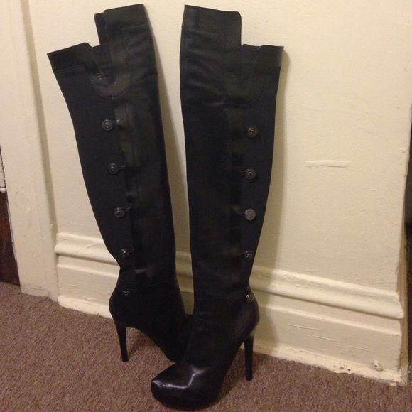 c6ac44299dc Guess by Marciano boots Super sexy thigh-high over-the-knee boots. Gently  worn. Style name