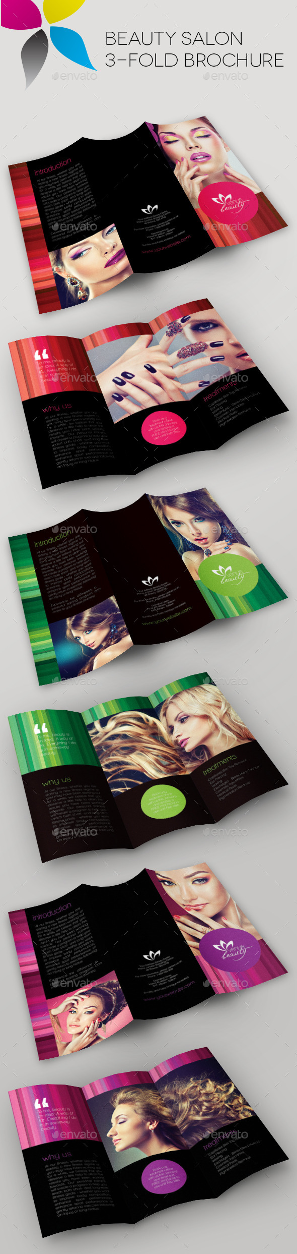 Beauty Salon Brochure  Brochure Template Brochures And Visiting