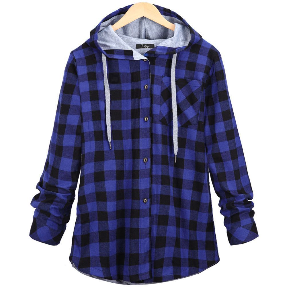 Flannel hoodie jacket women's  Hooded Flannel Shirt  Products  Pinterest  Hooded flannel