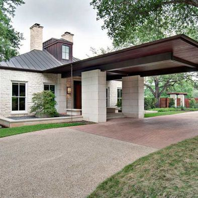 Porte Cochere At Art House Carport Designs Porch Design