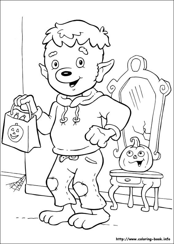 It Seems That This Nice Werewolf Will Hand Out Candy On The Halloween Party How About To Print And Color Awesome Coloring Page