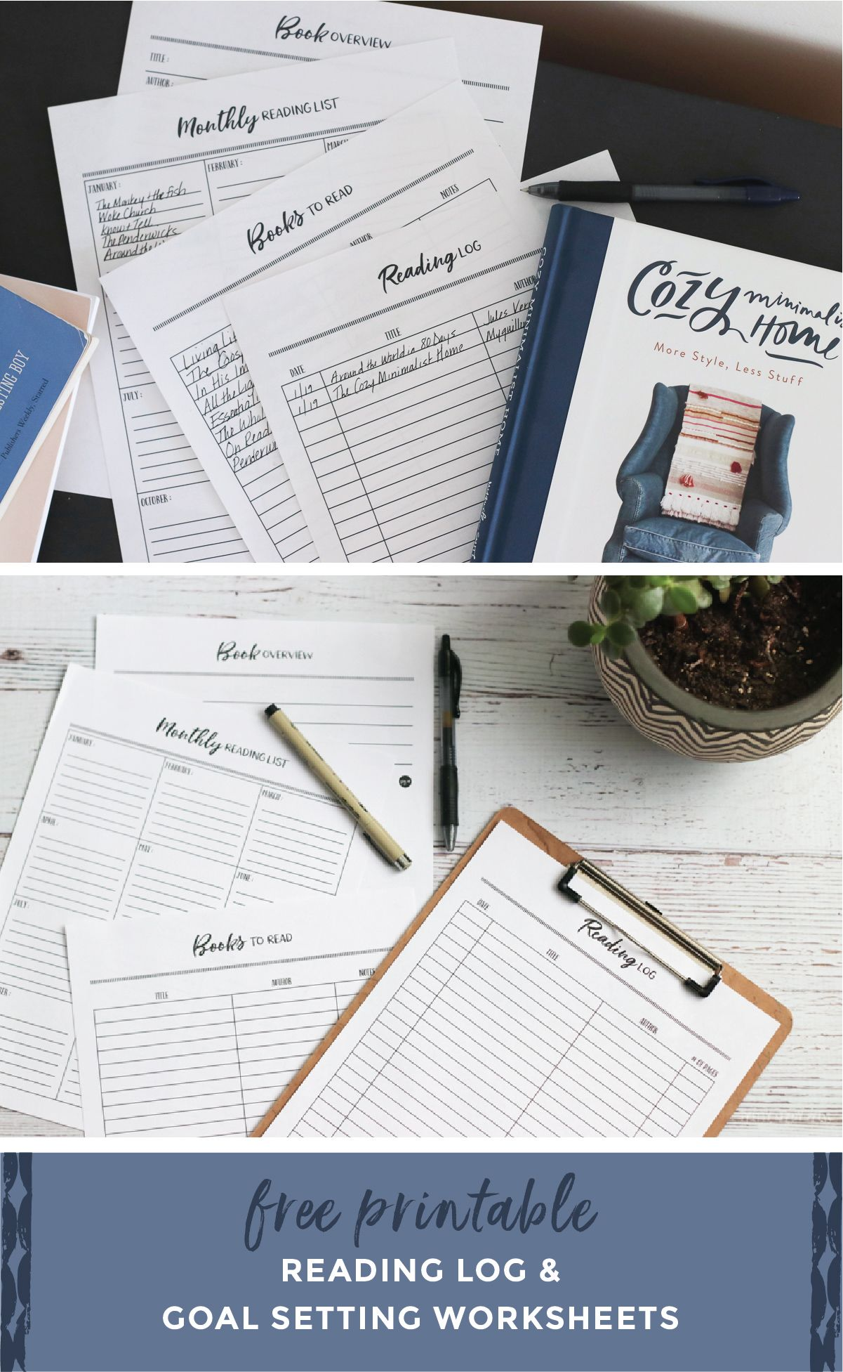 Printable Reading Log Amp Goal Setting Worksheets
