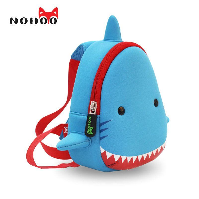 NOHOO Shark Children Cartoon Bags Waterproof School Bags For Girls ...