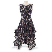 Black Lace Floral Dress