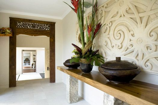 From Bali With Love Indonesian Inspired Home Decor Carved Wood Entrance Way Perhaps The Pop Up Tv Console Cane Be Created A