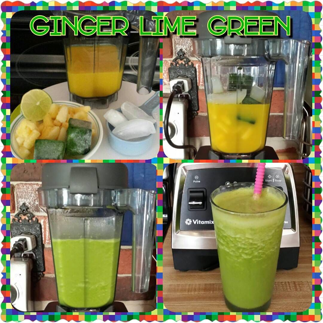 Ginger lime green smoothie 1 cup fresh juice made with