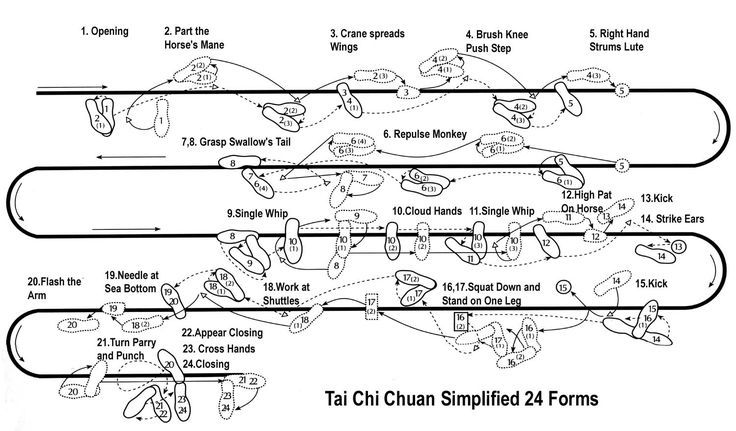 Simplified Standard 24 Movement Tai Chi Chuan Form Yang 24