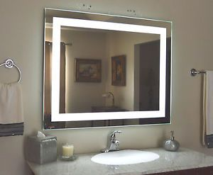Lighted Bathroom Vanity Make Up Mirror Led Lighted Wall Mounted