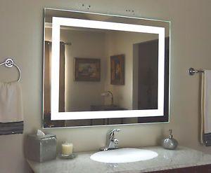 Front Lighted Led Bathroom Vanity Mirror 40 X 32 Rectangular