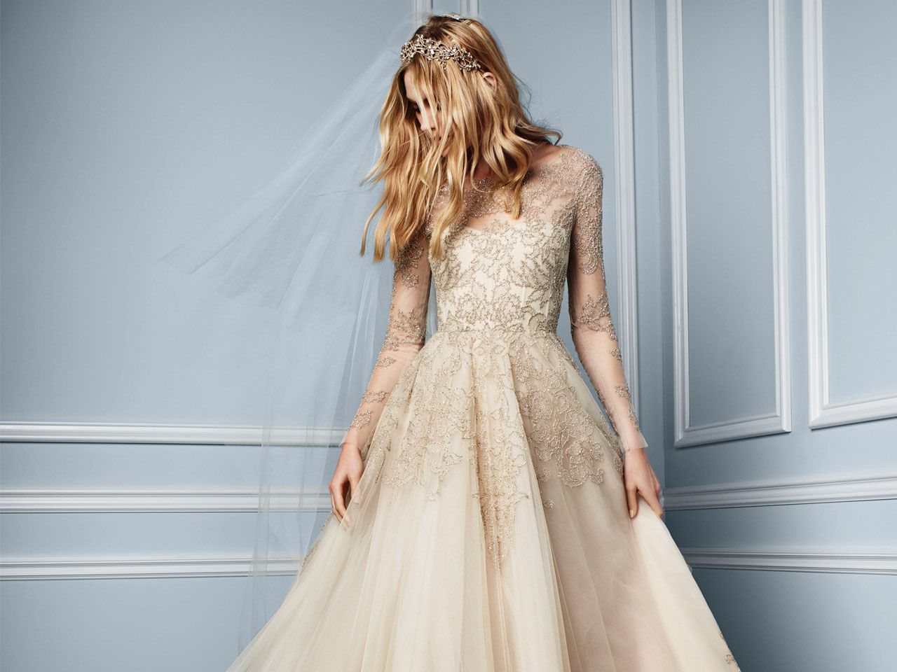 All The Deets On Georgina Wilsons Monique Lhuillier Wedding Gown