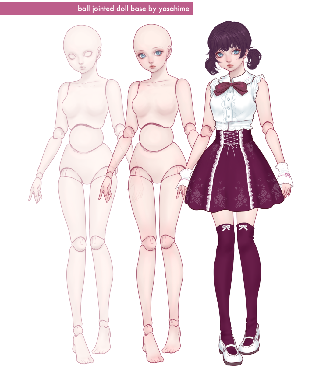Bjd Character Base By Jdarnell On Deviantart Character Base Character Design Doll Drawing