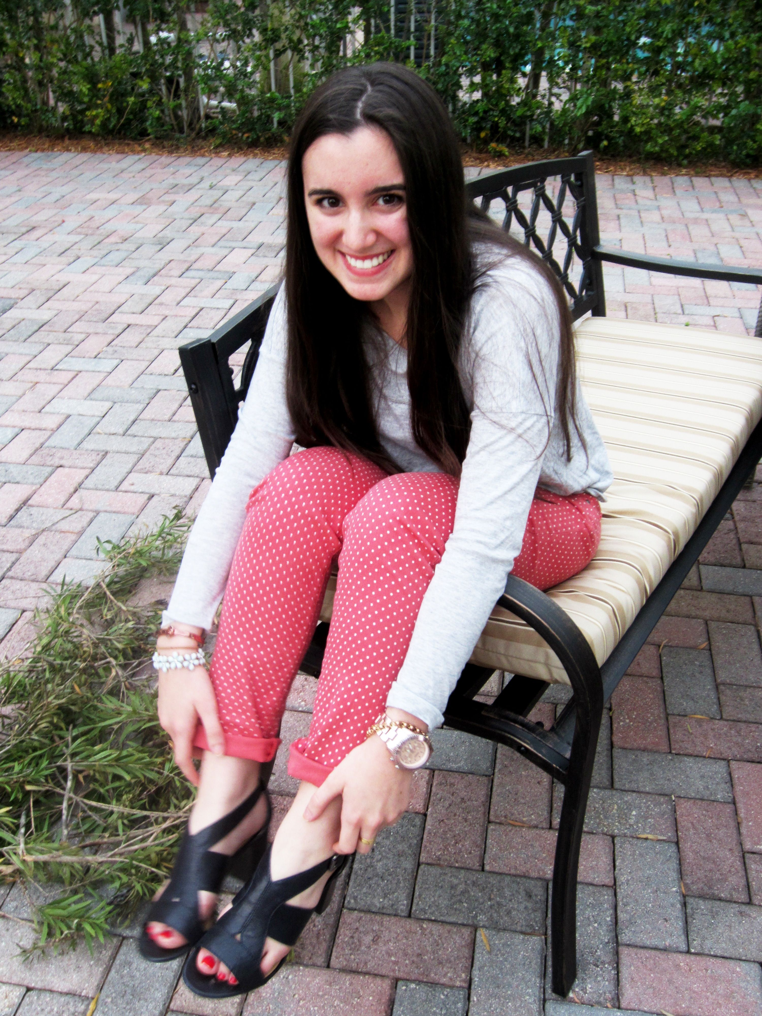 Red polka dotted jeans 3 style pinterest polka dot jeans red polka dotted jeans 3 sisterspd