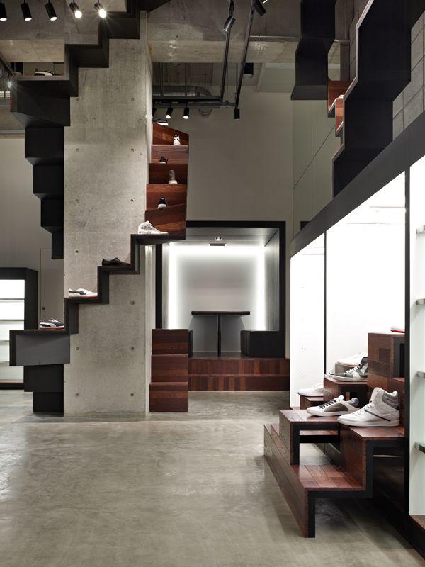 Puma House, tienda de calzado de Nendo en Tokyo