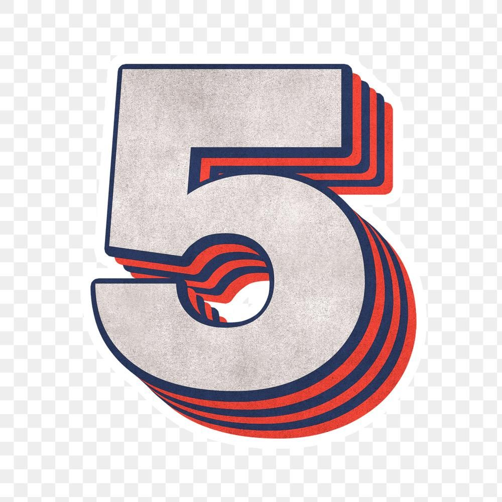 Number Five Layered Text Effect Png Font Free Image By Rawpixel Com Cuz Free Illustrations Png Free Png