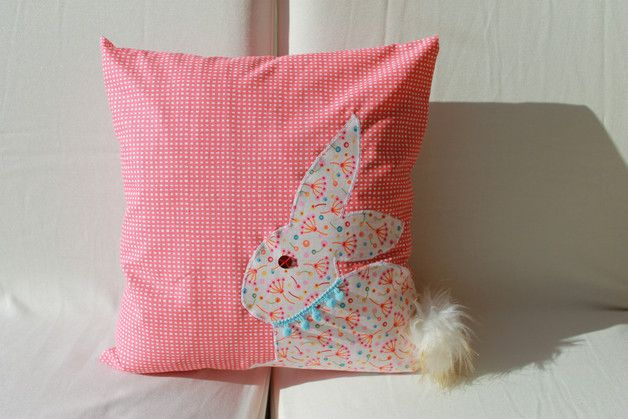 Kissen Hulle Hase Oster Kissen 35x35 Cm Made By Biclalo Kimo Via