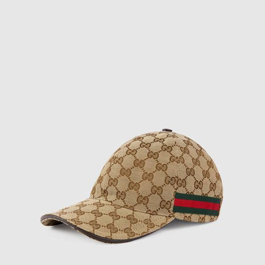 a262a0eea67 Shop the Original GG canvas baseball hat with Web by Gucci. A classic  baseball cap shape in Original GG canvas with Web detail. The Web was first  developed ...