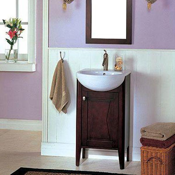 Fairmont Designs Tuxedo 20 Vanity, Sink, Mirror Combo L X W X H