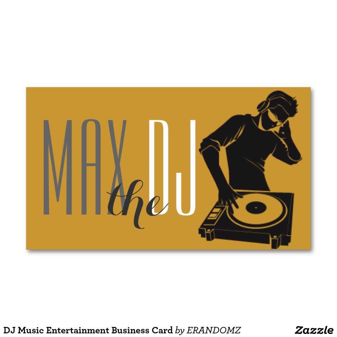 DJ Music Entertainment Business Card | Dj business cards | Pinterest ...