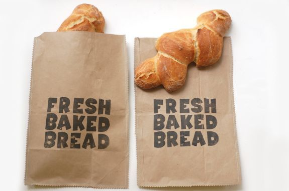DIY - Fresh Baked Bread Sewn Bags - Full Step-by-Step Tutorial using Foam Letters + Versa Craft Stamp Pad