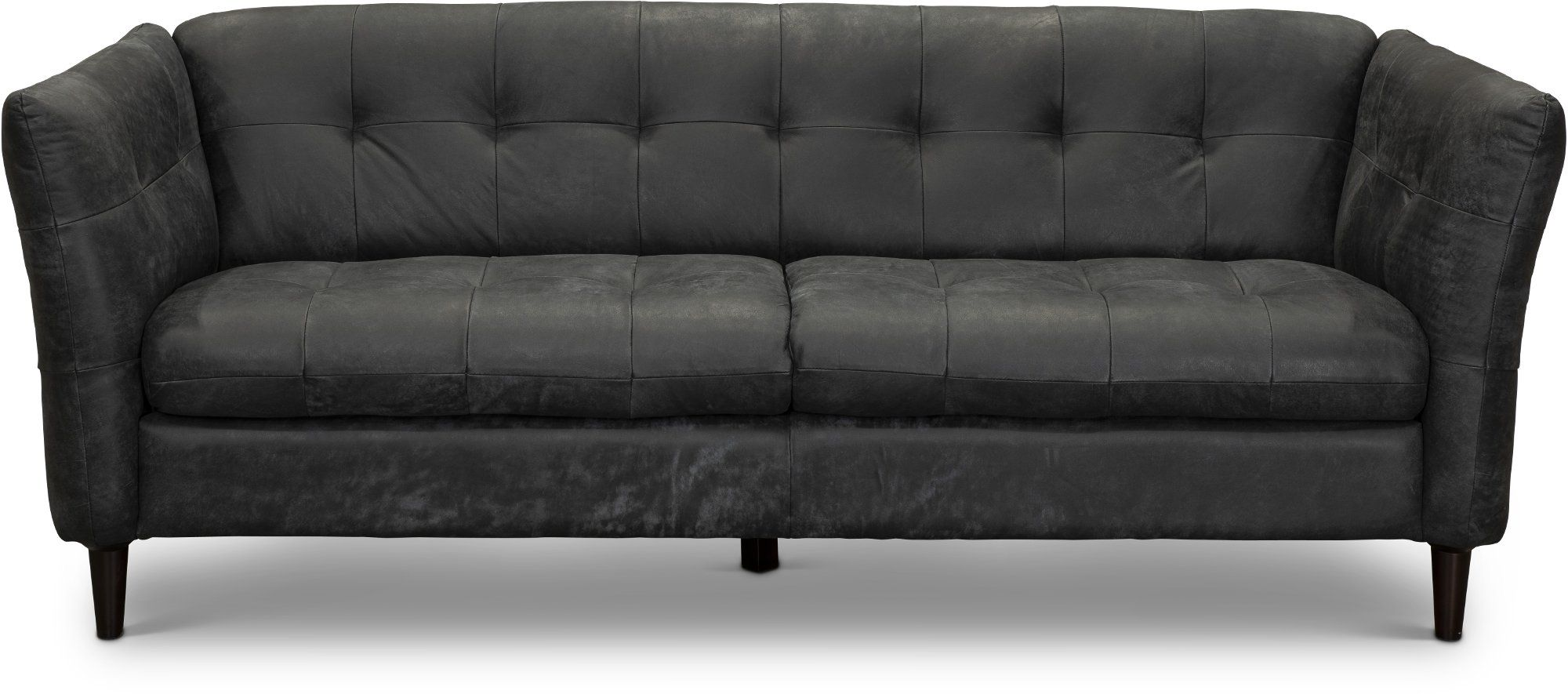 Contemporary Black Leather Sofa Ivan Black Leather Sofas