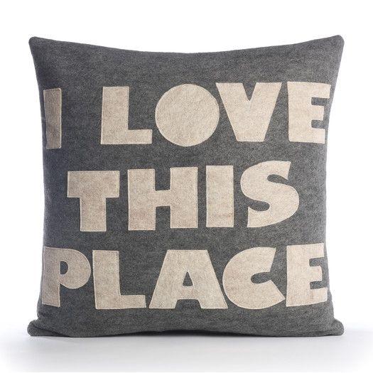 Alexandra Ferguson I Love This Place Decorative Pillow | AllModern