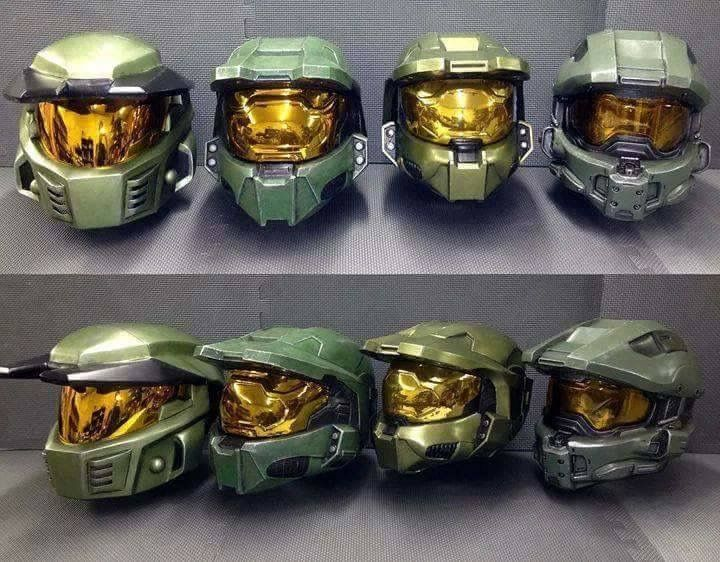 Halo 3 Microsoft Xbox 360 Master Chief 2 pc Cosplay Full Sized Helmet Only Mask