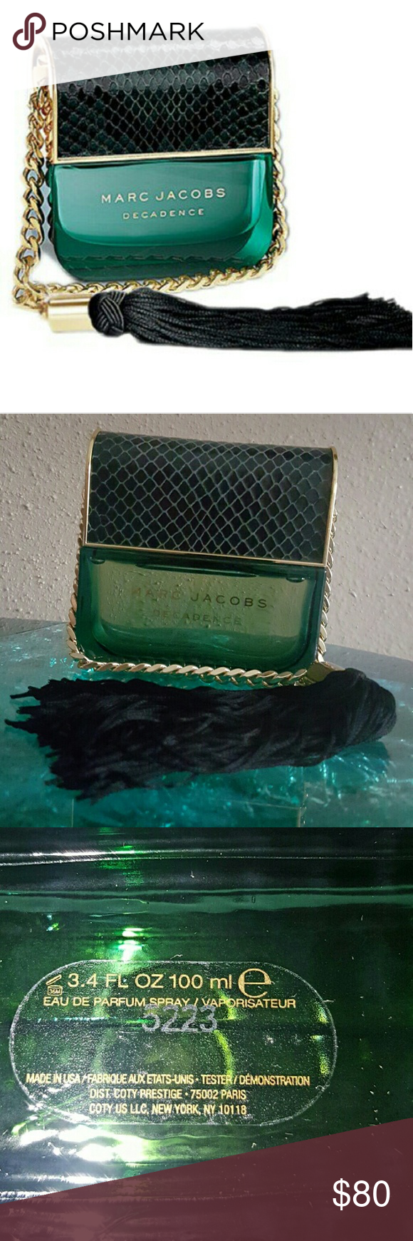 Marc Jacobs Decadence 3.4 eau de parfum.  100% authentic-Never sprayed.  NWB Marc Jacobs Makeup